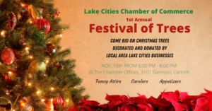 Lake Cities Chamber of Commerce | Festival of Trees | 2020